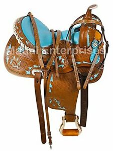 Y-amp-Z-Enterprises-Western-Premium-Leather-Western-Racing-Horse-Saddle-14-18-Seat