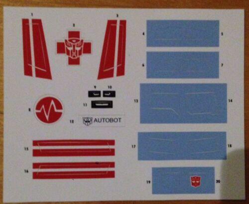 BotCon 2016 Transformers Combiner Wars G1 Ratchet Custom Class Sticker Sheet New