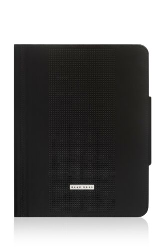 NEW HUGO BOSS APPLE IPAD GEN 3 4 BLACK LEATHER CASE COVER SLEEVE STAND WALLET