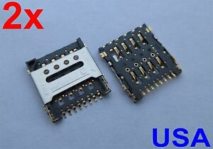 2X-SIM-Card-Reader-Tray-Slot-Holder-for-Alcatel-One-Touch-Evolve-4037