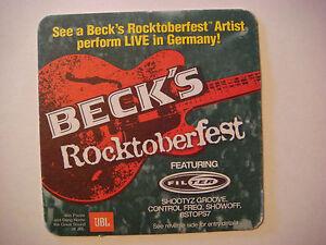 1999 Bière dessous de Verre ~ Brauerei BECK'S Rocktoberfest avec Filtre Bremen- 2mUlQnnq-09164928-919428718