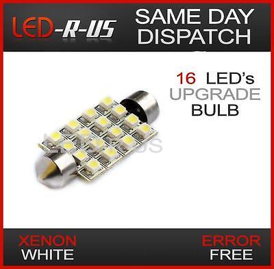1x WHITE 16 SMD LED CANBUS ERROR FREE FESTOON INTERIOR LIGHT BULB LAND ROVER