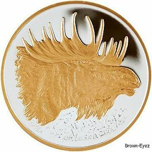 Alaska Mint Moose Gold Silver Medallion Proof 1oz Ebay