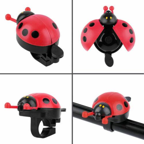 Cute LadyBug Bicycle Bell Ring Cruiser Kids Bike Vintage Handlebar Grips Horn US
