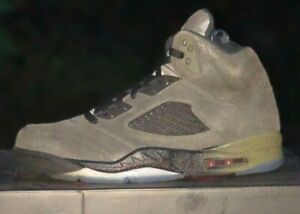 37c752d000dd3b Authentic Air Jordan 5 Retro Fear Pack Sz 10.5 Sequoia Fire Red ...