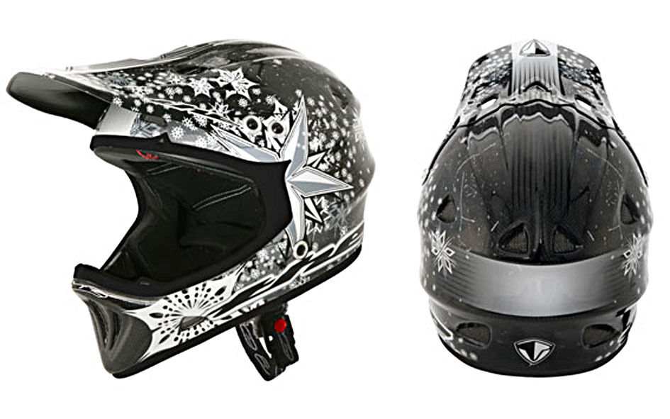 THE Full Face Carbon Helm Modell Frost, Gr. XL - Jugend - 51 52cm,