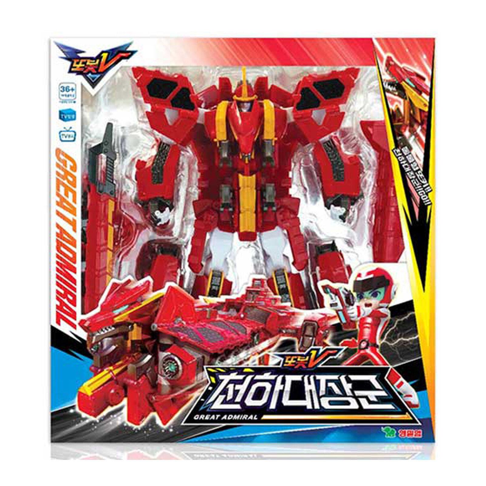 Tobot V Great Admiral Transformer Robot Car Toy Action Figure