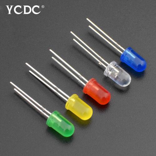 3mm 5mm 2-Pin LED-Leuchtdiode Runder Kopf GrüN Gelb Rot Blau X100,Kunststoff