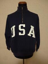 Polo Ralph Lauren Felpa Blu - L - Flag Sweater Olympics USA - 1/4 Zip