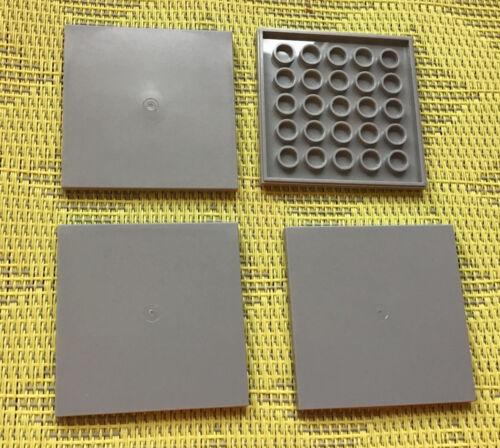neuhellgrau LEGO 4 fliesenplattten 6 x 6 scanalata