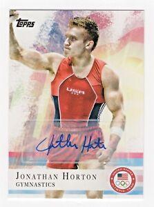 2012-Topps-USA-Olympic-Team-Autograph-80-Jonathan-Horton-Gymnastics