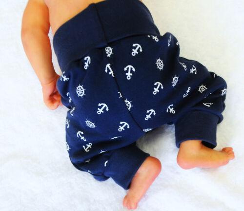 Hose Baby /& Kinder Pumphose 50-92 Babyhose Strampelhose Schlupfhose Weiß Blau