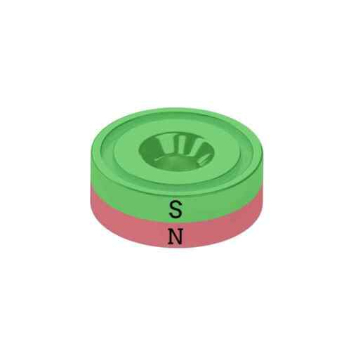 10er Set Senkungsmagnet Durchmesser 16 mm Neodym vernickelt Supermagnet N40