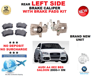 Für Audi A4 Hintere Bremssattel- Linke Seite + Beläge Satz 8e2 B6 Limousine