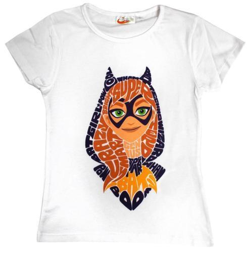 bnwt dc super hero girls catgirl cotton top t shirt 4,6,8,10 yrs