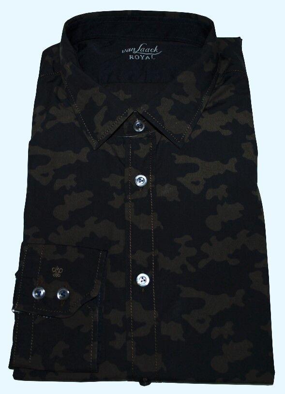 Van Laack Uomo Camicia Slim Fit Ryley KW 38 (15)  TG. S NUOVO