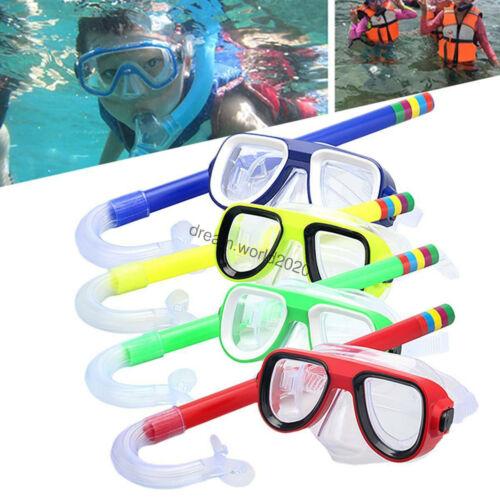 Kids Anti Fog Swimming Goggle Mask Snorkel Set Scuba Diving Protection Swim Tool