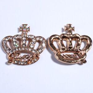 12PCS 33*56MM Crown Shape For Shoes Crystal Rhinestone Embellishment