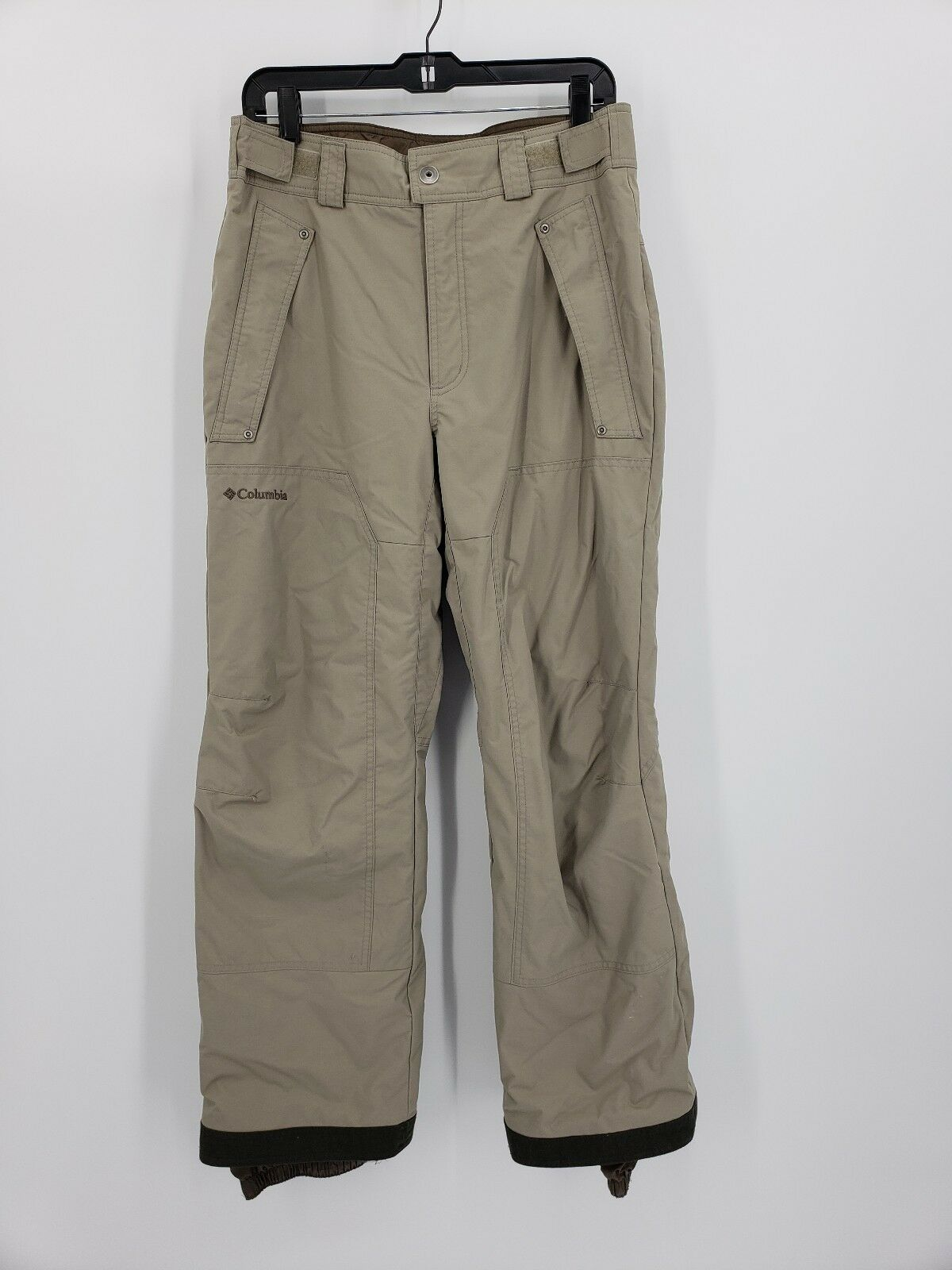 COLUMBIA Mens Boundary Run Insulated Ski Snow Pants Size Small Beige