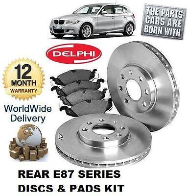 REAR BRAKE DISCS PADS /& SENSOR NEW 2004-2012 FOR BMW 1 SERIES E87 118D 120D