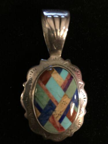 Carolyn Pollock Southwestern Sterling 925 Inlaid L
