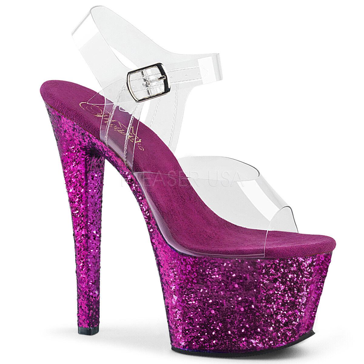 Pleaser Platform SKY-308LG Exotic Dancing  Platform Pleaser Ankle Strap Sandale 7