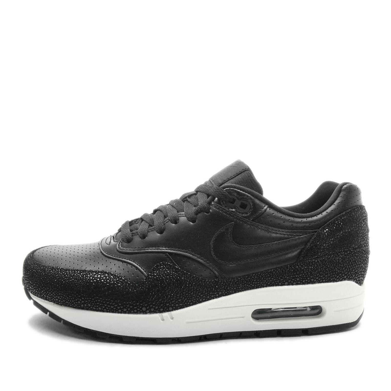 outlet store 20e1a 1150a Nike Nike Nike Air Max 1 cuero pa reduccion de precio NSW running negro    Negro