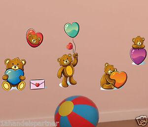 Baeren-Baerchen-Kinder-Baby-Wandtattoo-Wand-Raum-Deko-Aufkleber-Sticker-XXL