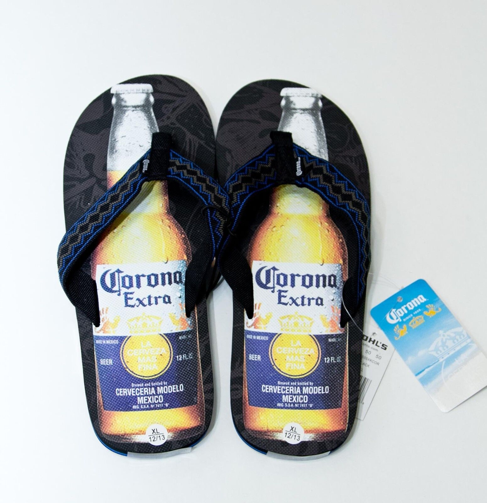 33f5ffa50d427c Corona Mens Flip Flops Sandals Cerveza Mas Fina Thongs Sz Sz Sz Medium   XL  NEW  30 25deec