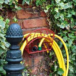 Image Is Loading FENCE WALL MOUNTED DELUXE GARDEN HOSE HANGER PIPE
