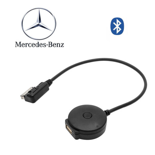 Wireless AUX Interface Black Bluetooth Music Adapter For Mercedes-Benz MMI Cable