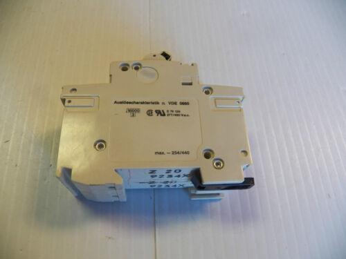 ABB CIRCUIT BREAKER S282Z20A 20A 20 A AMP 2 POLE 400V
