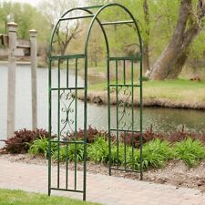 Gardman Kensington 7ft. Metal Arch Arbor, Green
