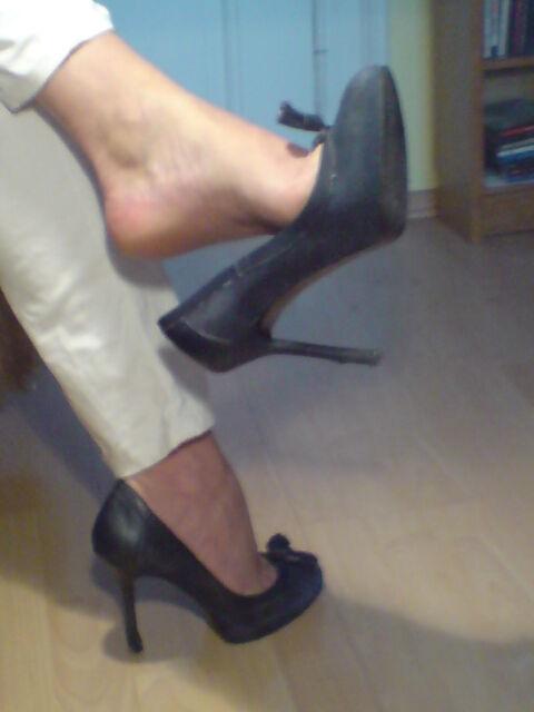high heels oft getragen
