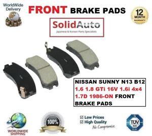 FOR-NISSAN-SUNNY-N13-B12-1-6-1-8-GTi-16V-1-6i-4x4-1-7D-1986-ON-FRONT-BRAKE-PADS