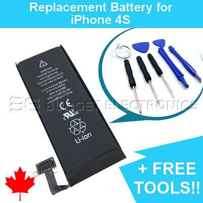 NEW iPhone 4S Replacement Battery APN 616-0580 1430mAh with FREE Repair Tools