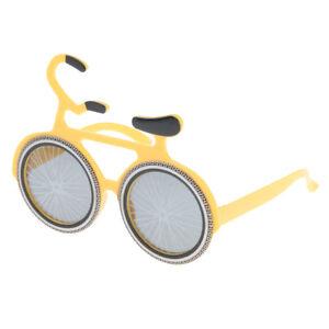 3b5d5b63ee Occhiali da sole a forma di bicicletta gialla novità Occhiali da ...