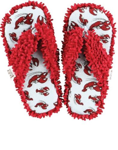 NEW Lazy One Spa Slippers Lobsters Size Small Fits Shoe Size 4-6