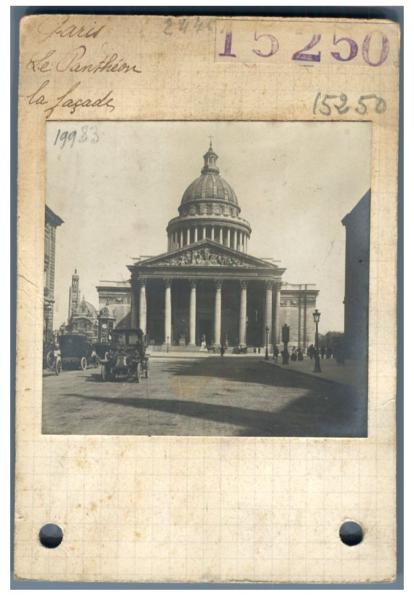 CompéTent France, Paris, Le Panthéon. Façade Vintage Silver Print. Provenance Archives Ra