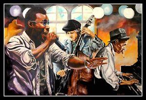 Soul Café ARTPRINT Kollektion Volker Welz Kontrabass Klavier Jazz Rock Pop Soul