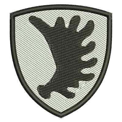 Ostpreusische Elchschaufel gestickt, Aufbügler, Patch, Wappen, Stadtwappen, NEU