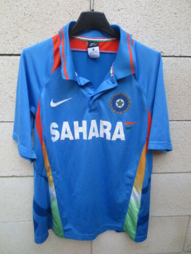 Maillot Polo CRICKET INDIA shirt NIKE SAHARA bleu Dri-Fit M
