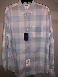43ff36bd9e82 BONOBOS Summer Weight Poplin Shirt Plaid Check Size Large - White ...