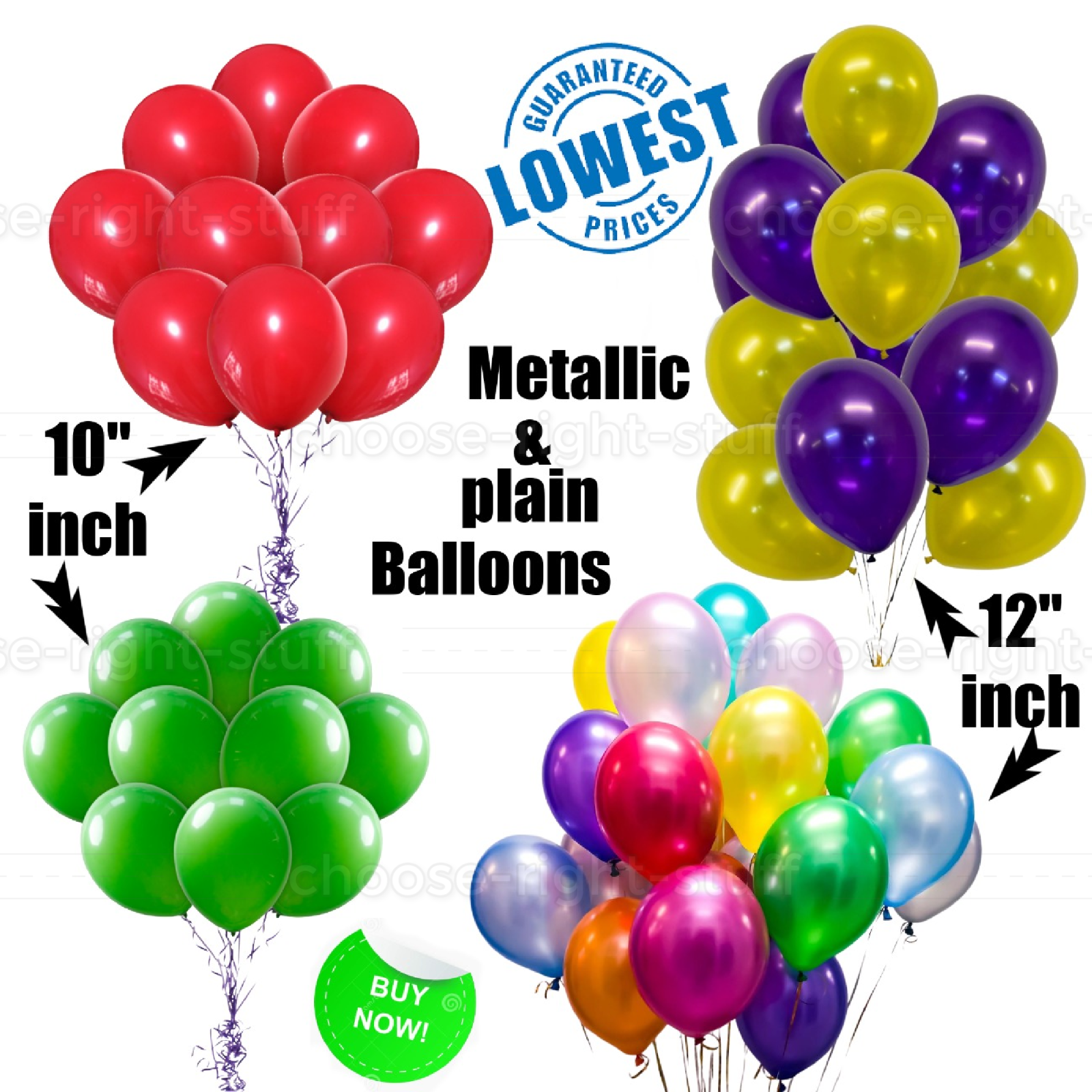 10-100 Party Red /& Black Plain Latex Balloons High Quality Of Latex Helium//Air