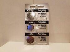 3 FRESH Genuine Energizer CR1620 ECR1620 3V Coin Button Batteries Fast Shipping