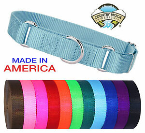 Country-Brook-Martingale-Heavyduty-Nylon-Dog-Collar-Various-Sizes-amp-Colors
