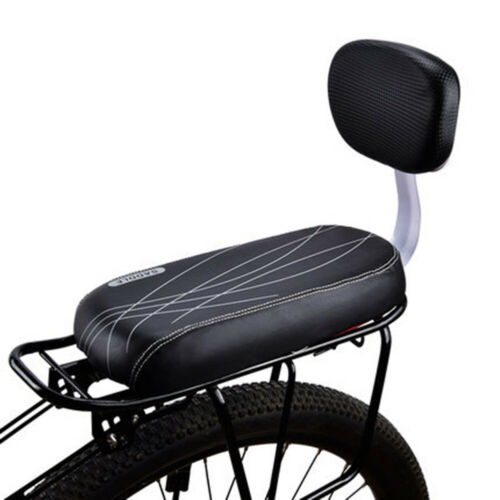 Premium PU Outdoor Bike Bicycle Cycling Rear Seat Cushion Pad With Back Rest