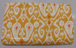 Indian-Handmade-nuevo-Paisley-Estampado-Edredon-Manta-Colcha-Doble-Ralli-Kantha