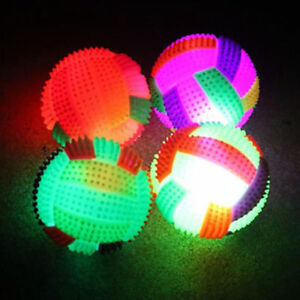 LED-Volleyball-Flashing-Light-Up-Bouncing-Hedgehog-Ball-Kids-Toy-Color-Chang-UK