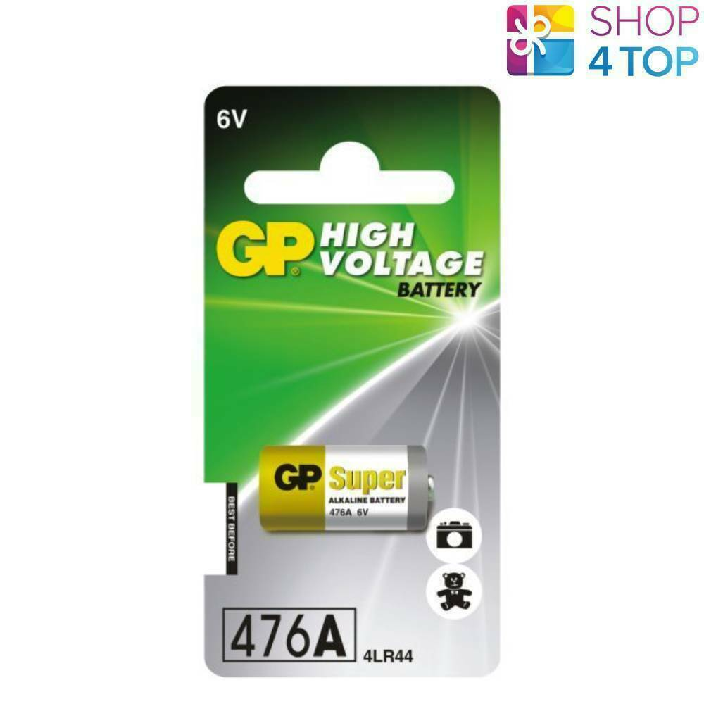 GP Alkaline High Voltage Battery 476A 6V 4LR44 No Mercury 476AF-2C1 2022 New